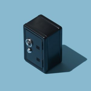 Miniature metallic safe
